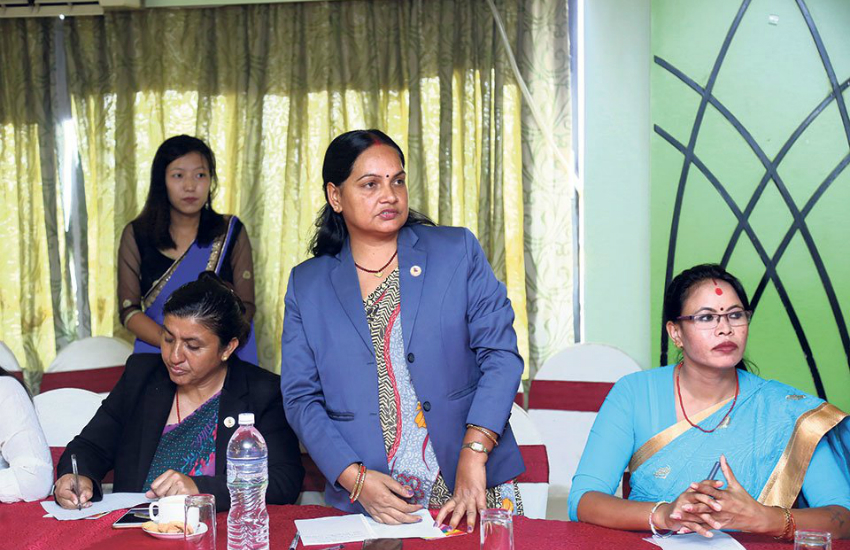LGBTI NGO Mitini Nepal organized a meeting with lawmakers to discuss the community's rights (Photo: Twitter)