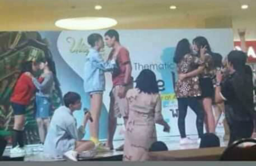 A biscuit eating competition caused quite the stir in Indonesia (Photo: Facebook)