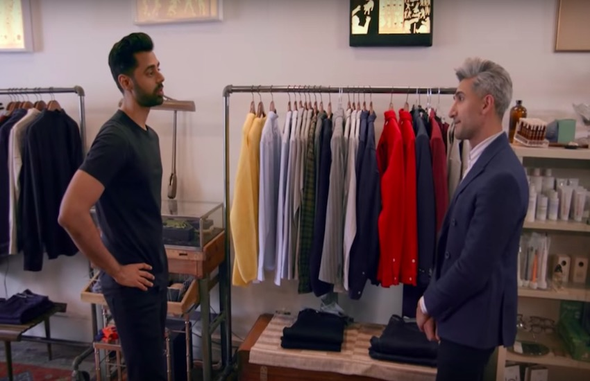 Queer Eye's Tan France gives style advice to comedian Hasan Minhaj