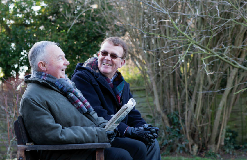 Two older men on a bench - photo from Age UK
