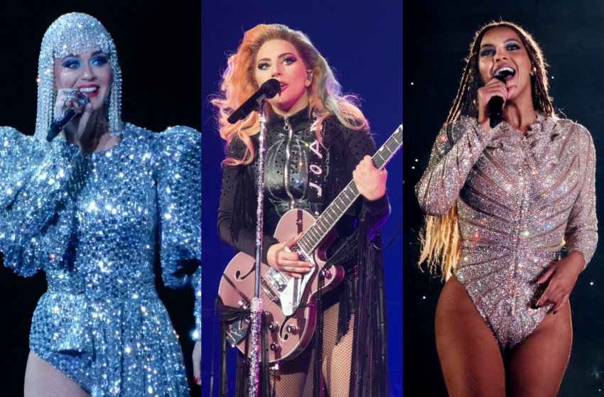 Katy Perry, Lady Gaga, Beyonce - three of our biggest women in music