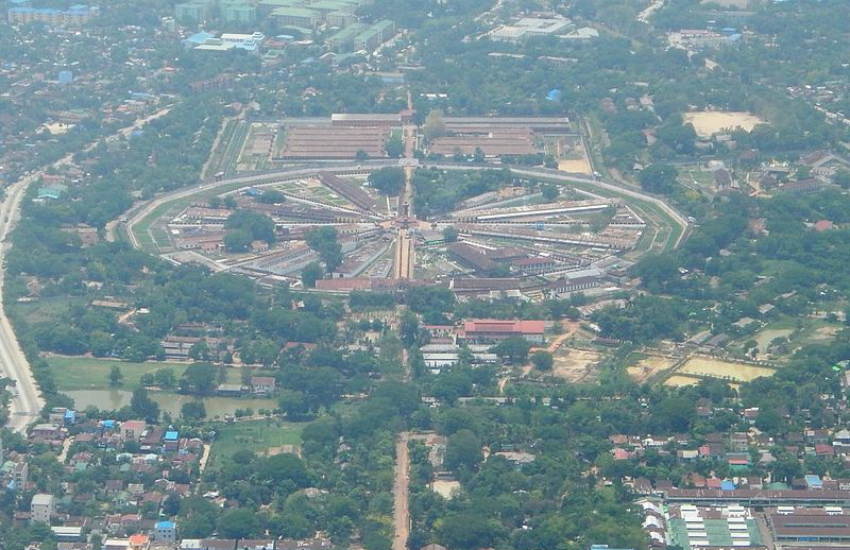 An aerial view of Myanmar's notorious Insein Prison (Photo: Wikipedia)
