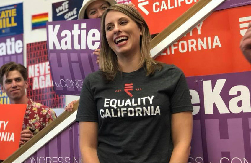 Katie Hill, one of the LGBTI victors of the midterm elections