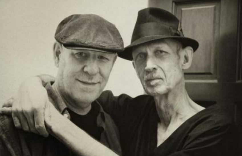 Michael Ely and James 'Spider' Taylor before Ely became a widower