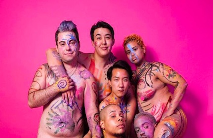 Photography from a Naked Paint Party by Landyn Pan