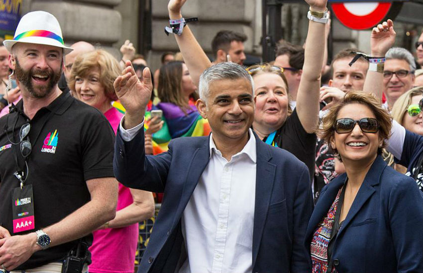 London Mayor Sadiq Khan at Pride in London