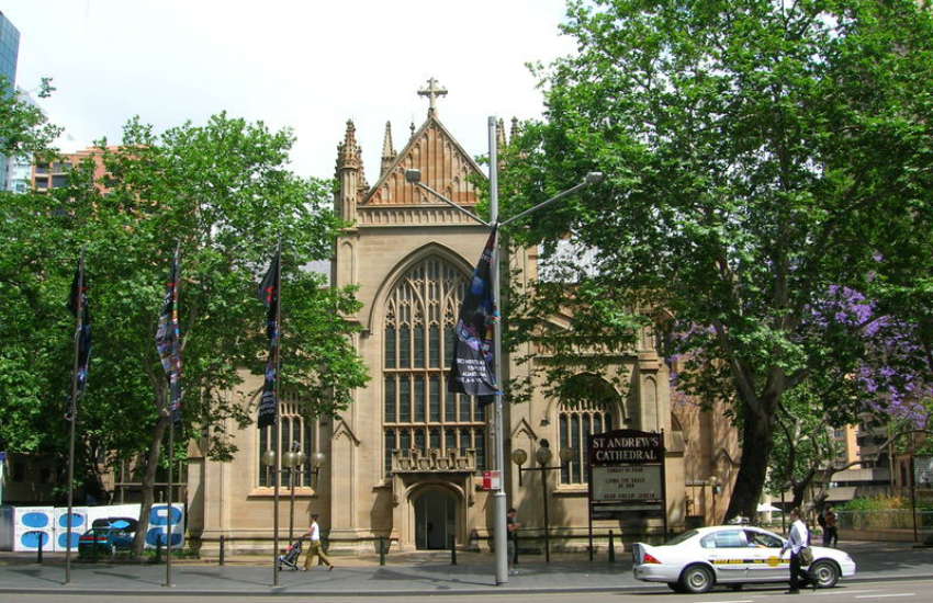 St Andews Anglican Cathedral in Sydney (Photo: Wikipedia)
