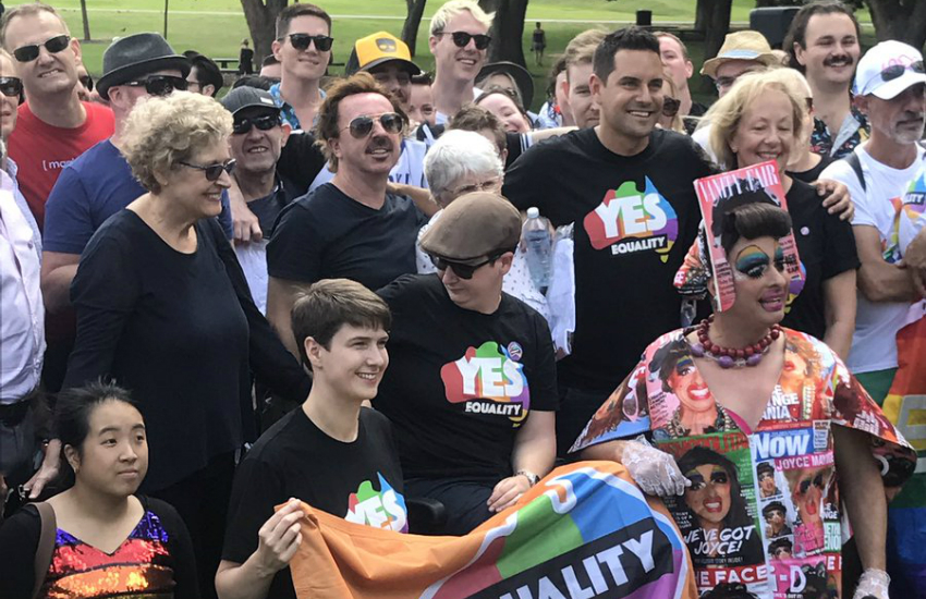 Supporters of the yes campaign gather in Sydney (Photo: Twitter)