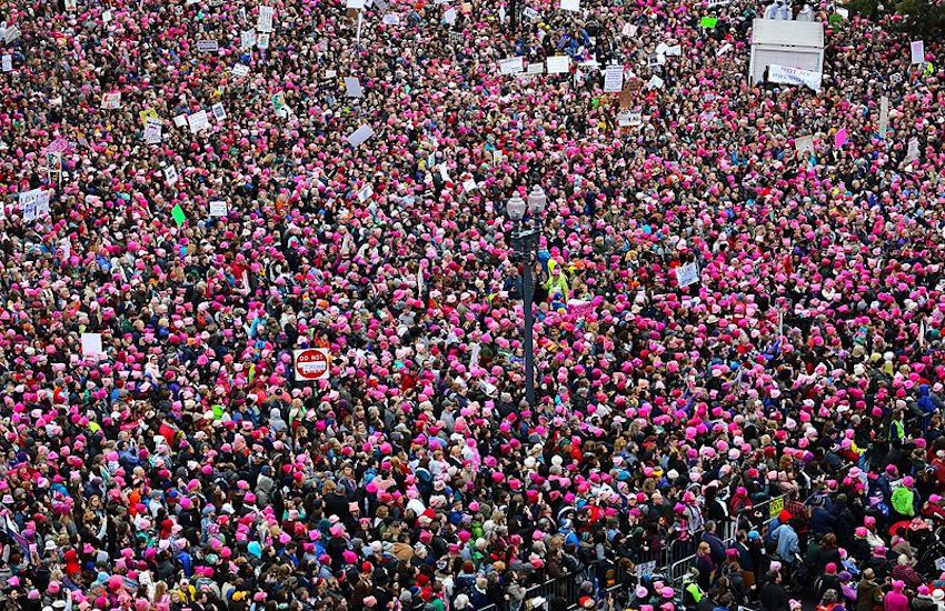 The first Women's March in Washington DC, January 2017