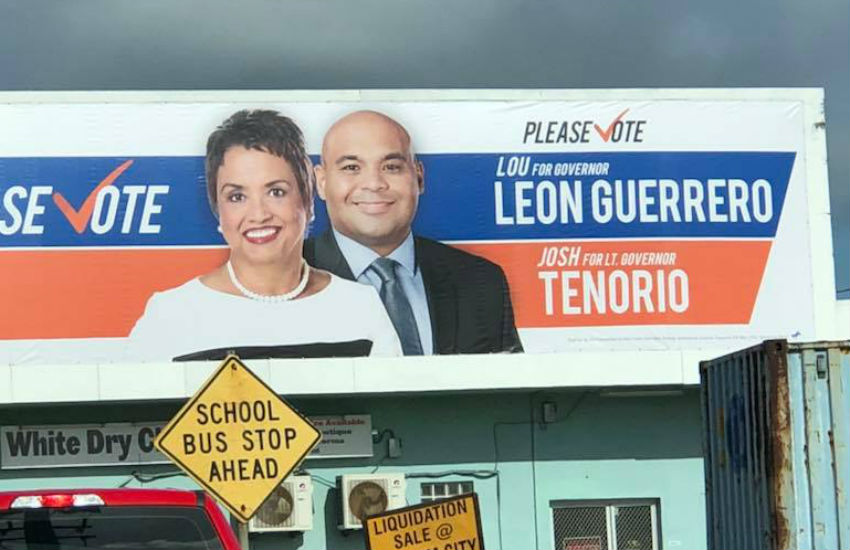 Lou Leon Guerrero and Josh Tenorio are set to be the new Governor and Lieutenant Governor of Guam