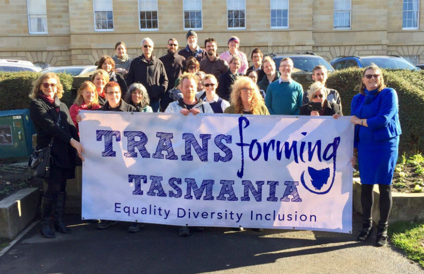 Transforming Tasmania have been campaigning for change to Tasmania's trans laws