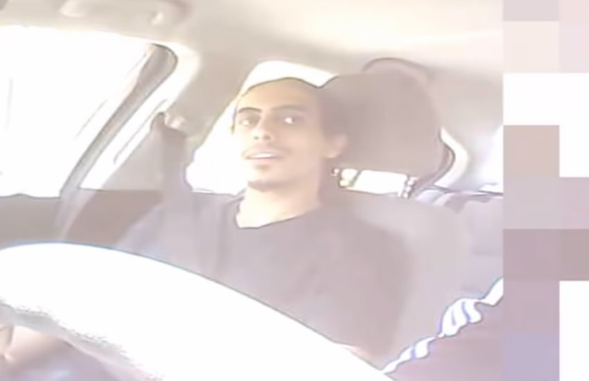 Amer Alhaggagi in the released FBI footage