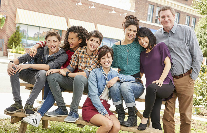 The cast of Andi Mack