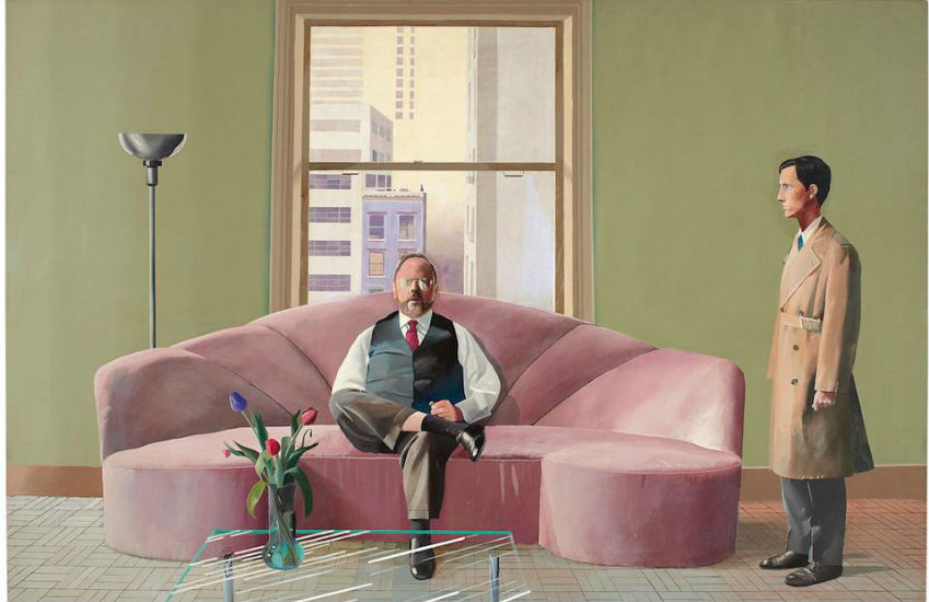 David Hockney painted this portrait of a famous gay couple | Photo: David Hockney/Christie's London