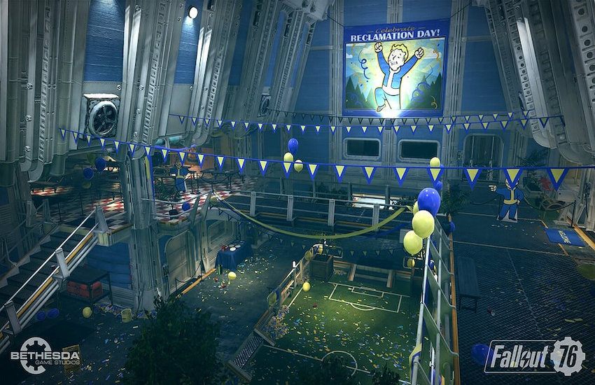 A still from Bethesda video game, Fallout 76
