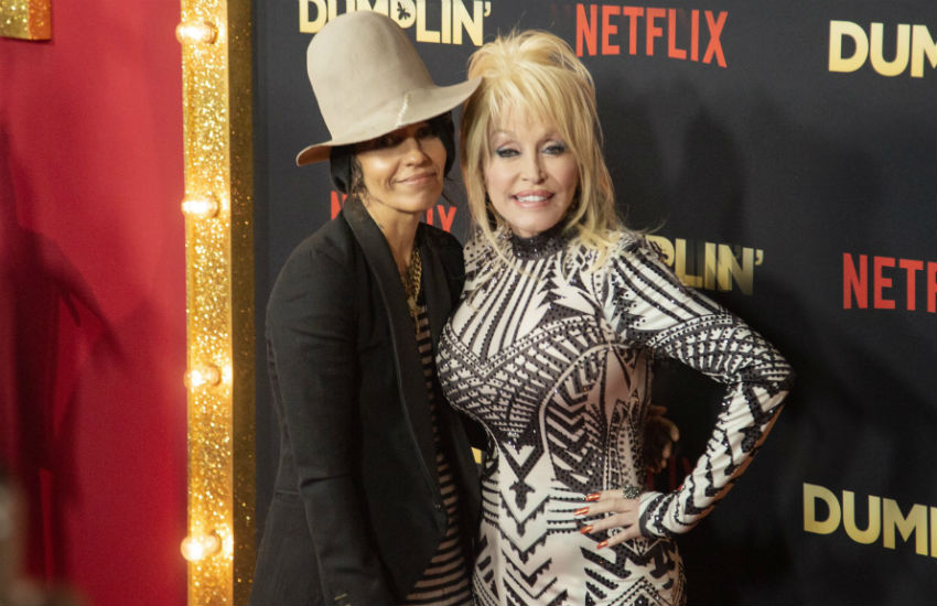 Girls in the movies: Linda Perry and Dolly Parton co-wrote tunes for Dumplin. Photo: Dolly Parton Facebook