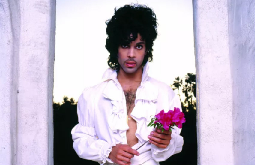 Prince in a photoshoot for Purple Rain