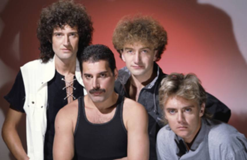 a colour promotional shot of Queen