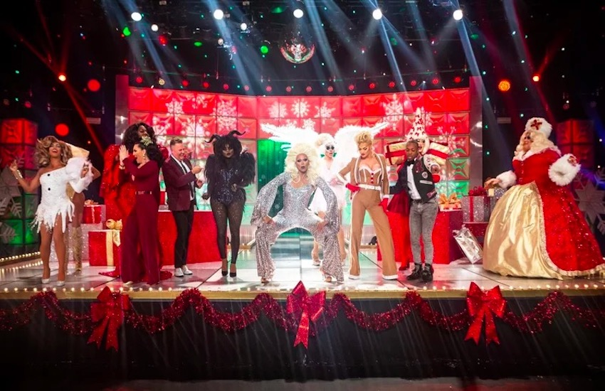 A still from the RuPaul's Drag Race Holiday special