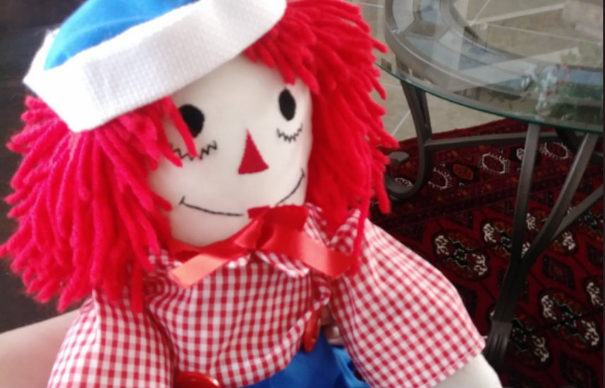 New and improved Raggedy Ann from Gabe's grandmother