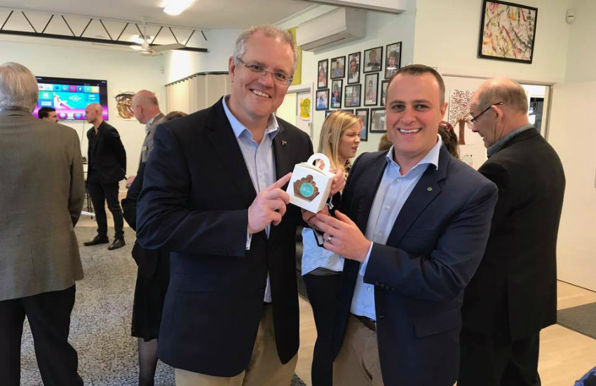 MP Tim Wilson with Scott Morrison, who is now Prime Minister (Photo: Facebook)