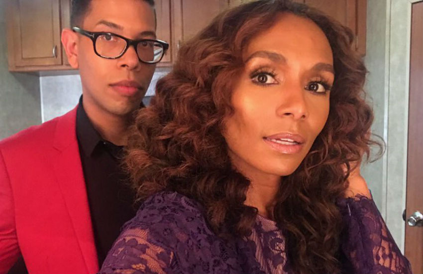 Steven Canals with Janet Mock