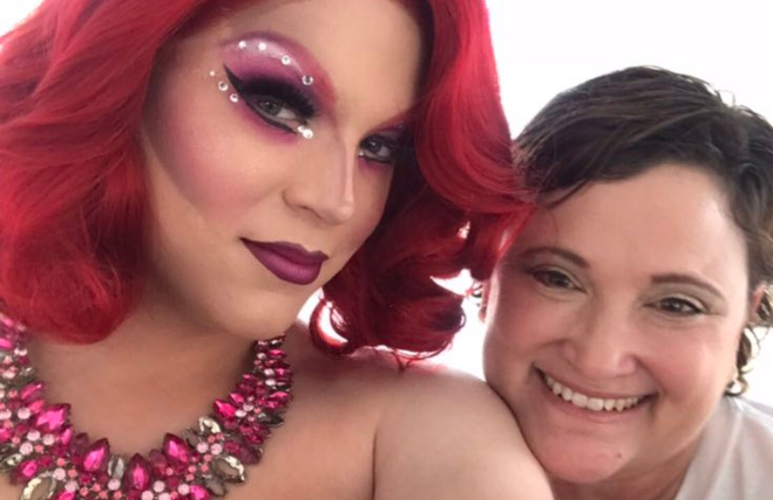 Teenage drag queen and mother