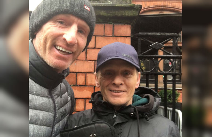 Helping others: Gay rugby star Gareth Thomas befriends homeless man
