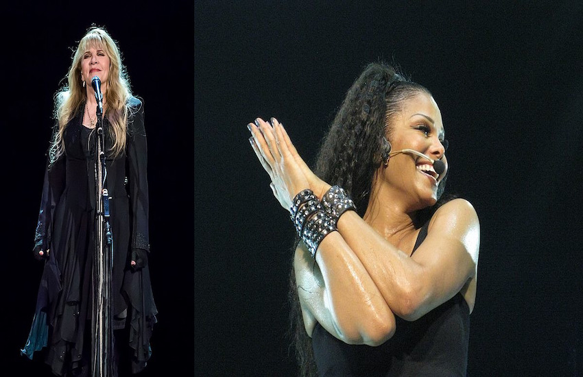 Stevie Nicks (left) and Janet Jackson will be inducted into the Rock & Roll Hall of Fame next year