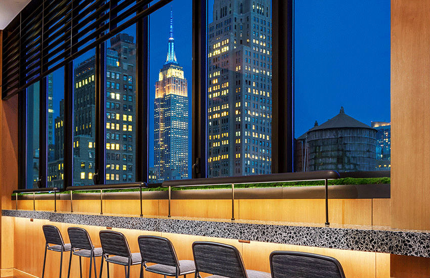 The view from the Castell Rooftop Lounge at the AC Hotel New York Times Square | Photos: AC Hotel New York Times Square