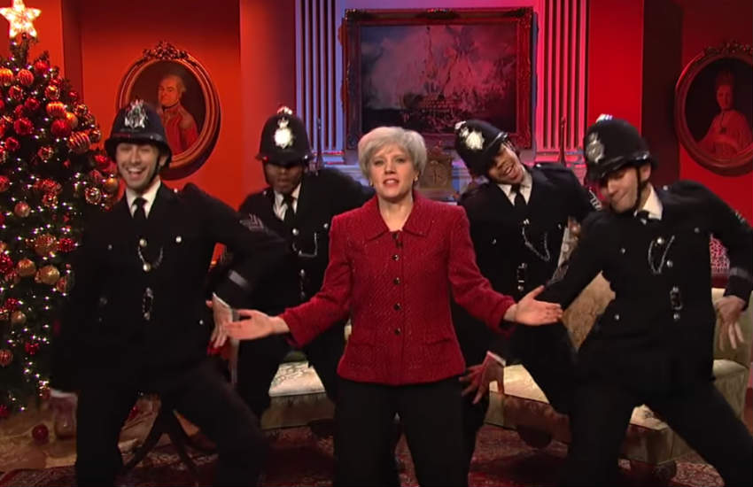 Kate McKinnon as British Prime Minister Theresa May.