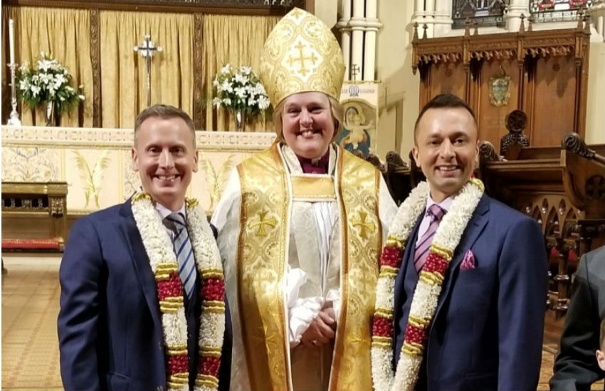 Get me to the church: Bishop marries partner in Toronto cathedral. Photo: Diocese of Toronto