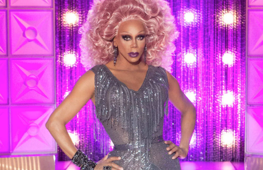 RuPaul on the set of RuPaul's Drag Race