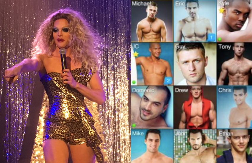 Willam has posted a Grindr screenshot | Photos: Wiki/Grindr press imagery