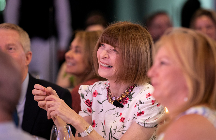 Anna Wintour at the Australian Open Inspirational Series in Melbourne (Photo: Australian Open / Facebook)