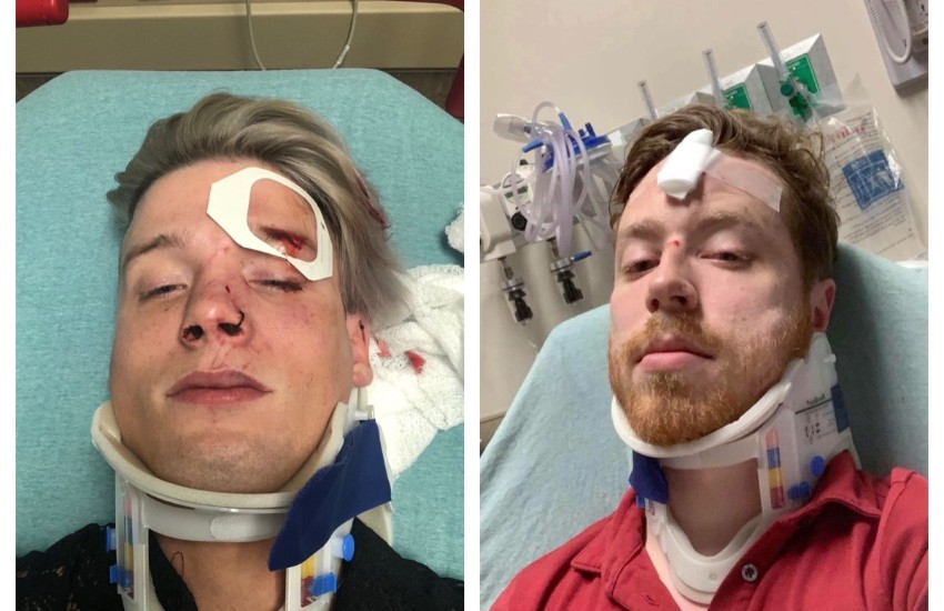 Austin couple Spencer Deehring and Tristan Perry who were attacked by a group of men