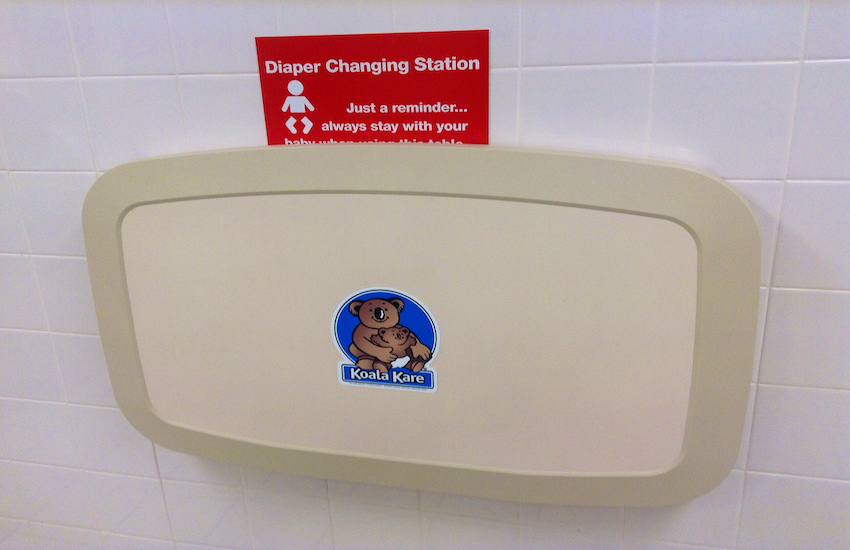 New York now requires there to be baby changing tables in men's public restrooms