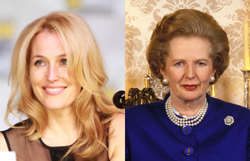 Gillian Anderson and Margaret Thatcher