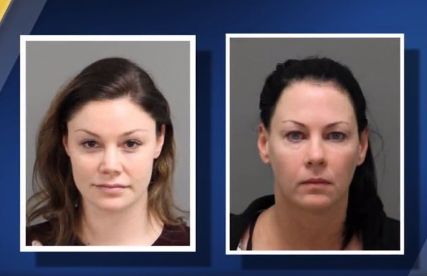 Amber Harrell and Jessica Fowler, arrested by authorities, for assaulting a trans woman