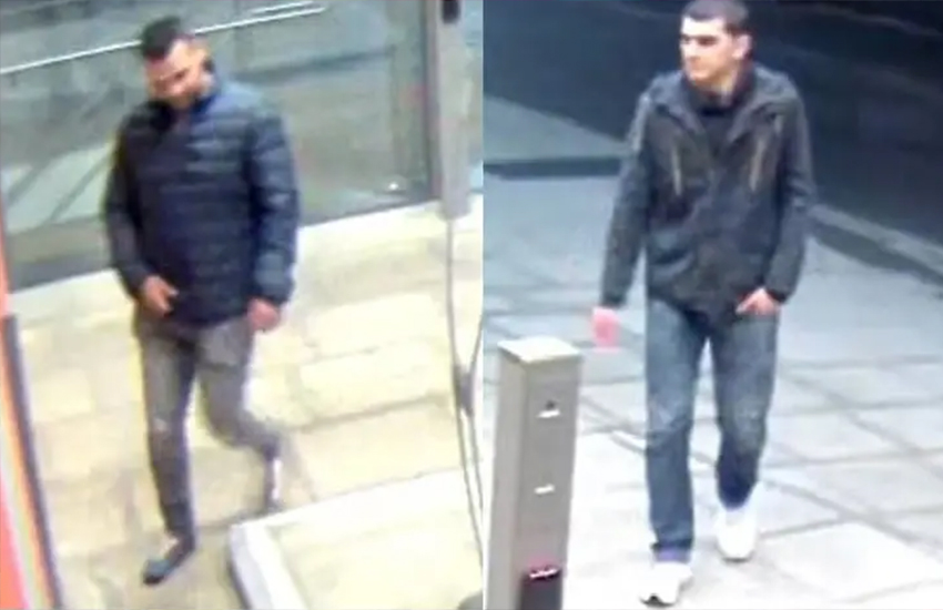 Police released a CCTV image of two men in connection with an assault in London (Photo: Police)
