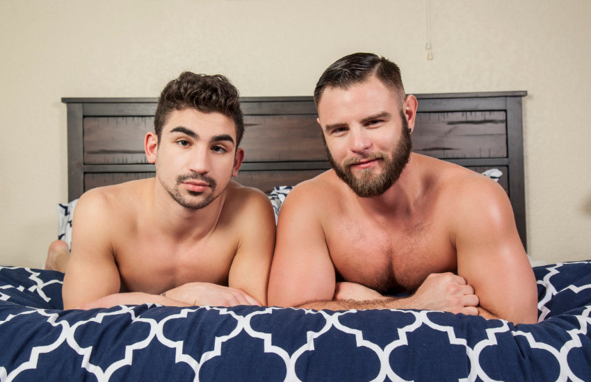 porn stars Lukas Valentine and Nick Sterling