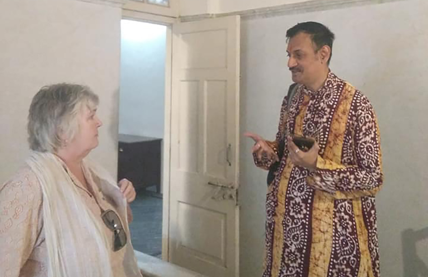Trudy Howson and Prince Manvendra Singh Gohil (Photo: Twitter)