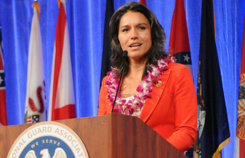 Tulsi Gabbard, a Democrat from Hawaii