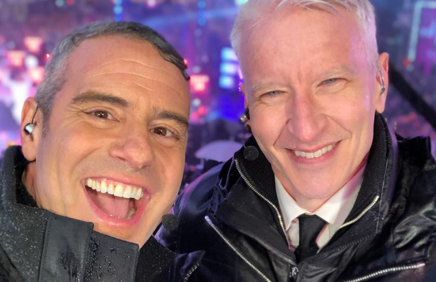 Andy and Anderson on NYE | Photo: Instagram/bravoandy