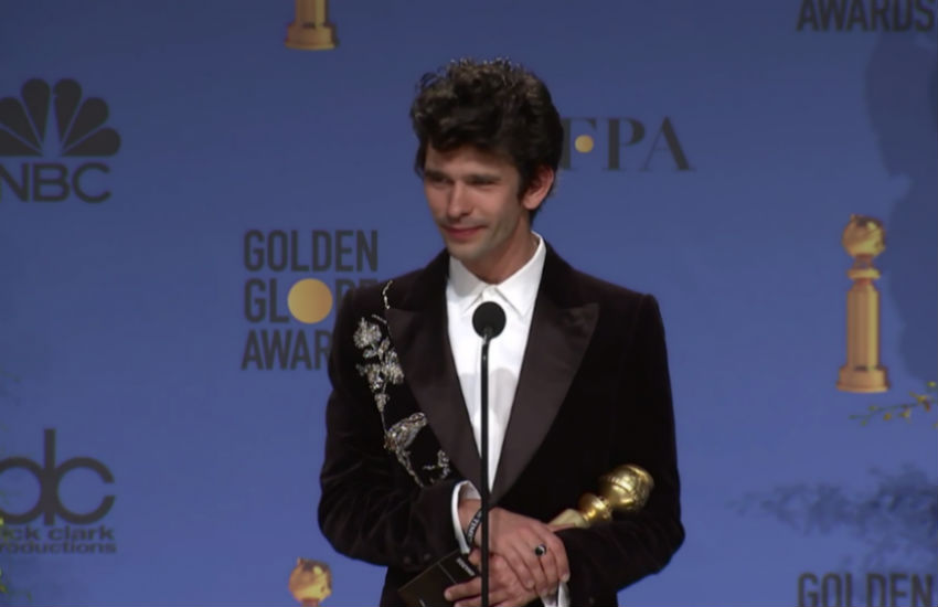 Ben Whishaw at last night's Golden Globes | Photo: YouTube