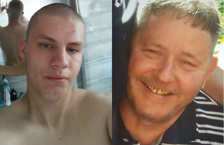 Daniel Kurmelovs (left) in a selfie posted to social media five days after he murdered Frank Lennon (right)