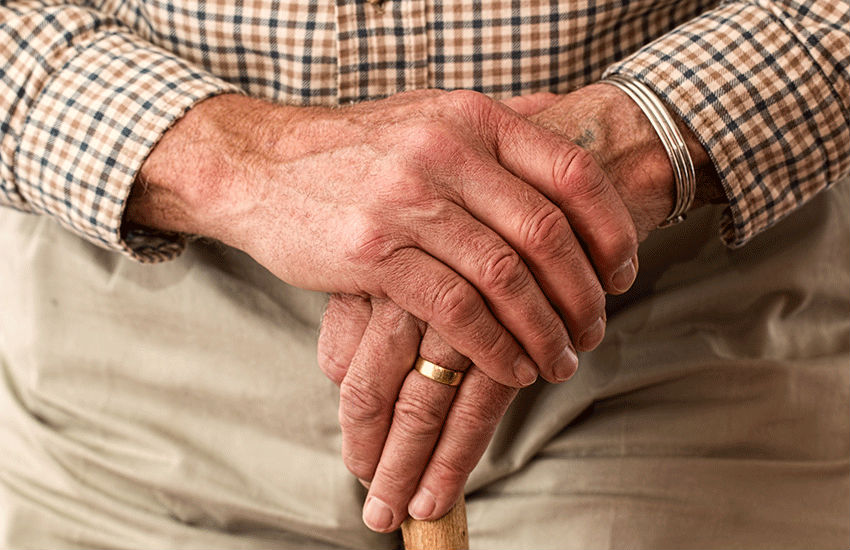 The carer threatens to take away the man's walking stick in the shocking clip   Photo: Pexels