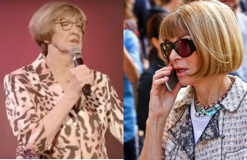 Margaret Court and Anna Wintour