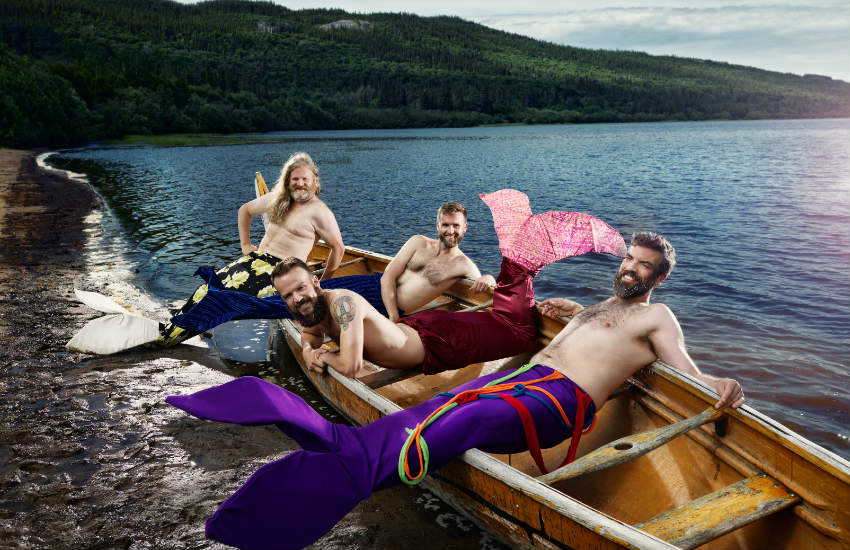 Mermen chilling at Gosling Lake.