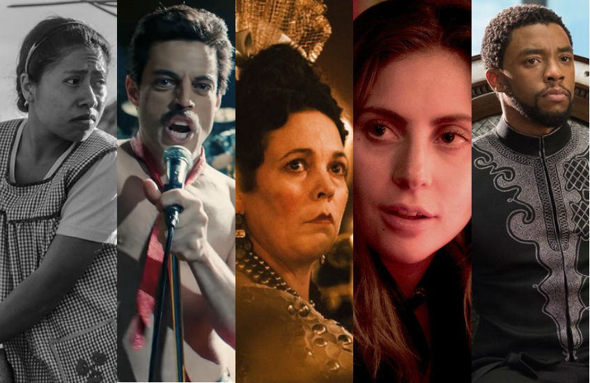 Roma; Bohemian Rhapsody; The Favourite; A Star Is Born; and Black Panther - five of this year's Best Picture nominations